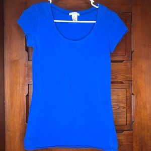 Deb Blue Fitted Short Sleeve Tee